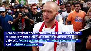 Facebook Is Reviewing its Policy on White Nationalism [Video]