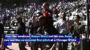 Kanye West Throws First Pitch at Baseball Game in Chicago [Video]