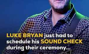 Luke Bryan Soundcheck Crashes a Wedding in Mexico [Video]