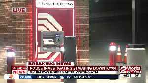 Man robbed and stabbed in hand after visiting downtown ATM overnight [Video]