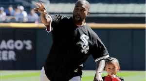 Kanye West & Son Saint Throw First Pitch At Cubs-White Sox Game [Video]