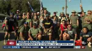 Veterans honor the 22 veteran lives lost every day at fourth annual Silkies Hike [Video]