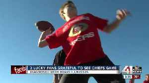 Chiefs home opener special for several fans [Video]