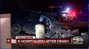 2 adults, 4 kids hurt in Tolleson crash [Video]
