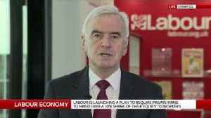 News video: McDonnell announces workers' rights scheme