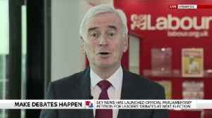 McDonnell back leaders' debate petition [Video]