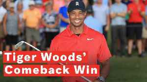 Tiger Woods Wins Tour Championship For First PGA Victory Since 2013 [Video]