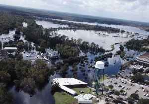 Conway Watches Floodwaters Slowly Seep Into Town [Video]