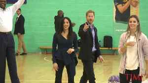 Meghan Markle and Prince Harry Were Total Sports at This Fun Gymnasium Event [Video]