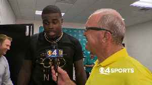 Dolphins Wide Receiver Jakeem Grant Talks to CBS4 Kim Bokamper about his Big Game. [Video]