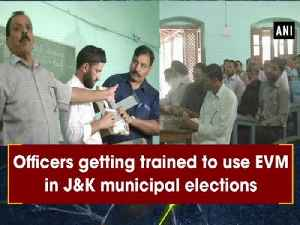 Officers getting trained to use EVM in J&K municipal elections [Video]