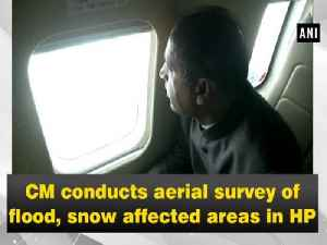 CM conducts aerial survey of flood, snow affected areas in HP [Video]