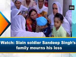 Watch: Slain soldier Sandeep Singh's family mourns his loss [Video]