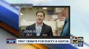 First debate held between Doug Ducey and David Garcia [Video]