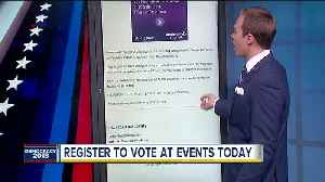 Get registered to vote for the 2018 General Election at National Voter Registration Day events [Video]