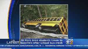 More Than 2 Dozen Students Taken To Hospital After School Bus Overturns [Video]