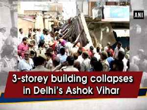 3-storey building collapses in Delhi's Ashok Vihar [Video]