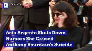 Asia Argento Shuts Down Rumors She Caused Anthony Bourdain's Suicide [Video]