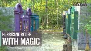 Harry Potter-themed backyard helps raise money for hurricane relief [Video]