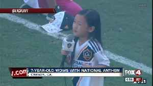 News video: 7-year-old girl wows with National Anthem