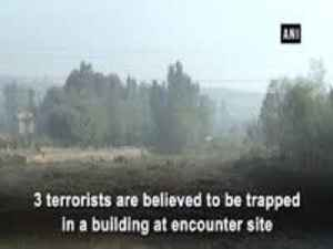 Encounter underway in Budgam, 3 terrorists trapped [Video]