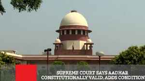 Supreme Court Says Aadhar Constitutionally Valid, Adds Condition [Video]