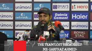 The Team Lost Because Of Me- Sarfraz Ahmed [Video]