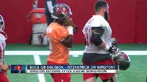 Jameis Winston practices, Tampa Bay Buccaneers still mum on starting quarterback for Sunday's game [Video]