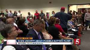 Residents Unhappy About Proposed Battery Plant [Video]