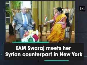 EAM Swaraj meets her Syrian counterpart in New York [Video]