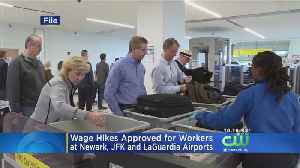 Wage Hikes Approved For Workers At New Jersey, New York Airports [Video]