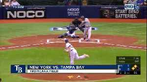 New York Yankees rout Tampa Bay Rays, near home field advantage vs. Oakland A's for Wild Card game [Video]