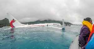 Boeing Flight Misses Runway and Crashes Into the Water — But All Passengers Survive [Video]