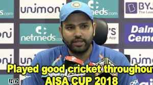 Asia Cup 2018 | We played good cricket throughout the tournament: Rohit Sharma [Video]