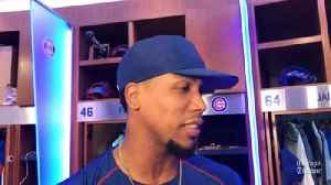 Cubs pitcher Pedro Strop on his hamstring [Video]