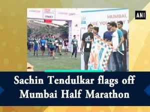 Sachin Tendulkar flags off Mumbai Half Marathon [Video]