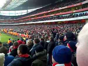 Fan Cam After Santi Cazorla Goal  Arsenal 2 Aston Villa 1 - ArsenalFanTV.com [Video]