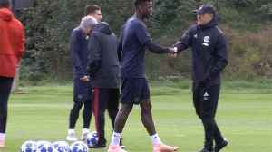 Pogba and Mourinho appear to ignore each other at training [Video]