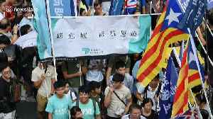 Hong Kong protesters march for independence on China's National Day [Video]