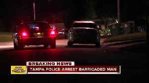 Intoxicated man arrested after barricading himself inside Tampa home, holding three people hostage [Video]