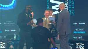Fury, Wilder scuffle during pre-fight news conference [Video]