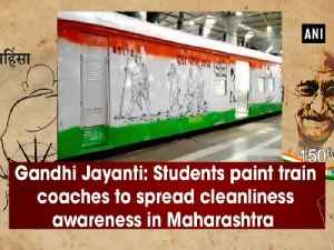 Gandhi Jayanti: Students paint train coaches to spread cleanliness awareness in Maharashtra [Video]