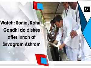 Watch: Sonia, Rahul Gandhi do dishes after lunch at Sevagram Ashram [Video]