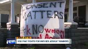 Kent State fraternity takes stand against sexual assault, city says sign violates ordinance [Video]