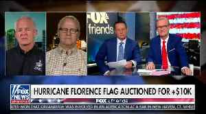 American flag survives the winds of hurricane Florence then sells for over $10,000 [Video]