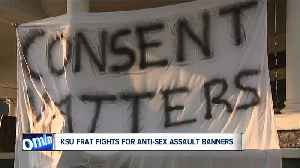 KSU frat fights for anti-sexual assault banners [Video]
