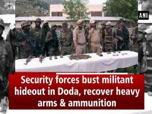 Security forces bust militant hideout in Doda, recover heavy arms & ammunition [Video]
