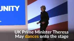 British PM May dances to 'Dancing Queen' at Tory party conference [Video]