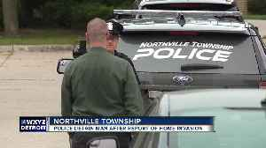 Police detain man after report of home invasion in Northville Township [Video]