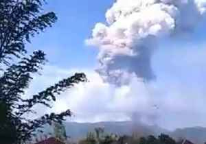 Ash Cloud Billows from Soputan Volcano After Eruption on Sulawesi Island, Indonesia [Video]